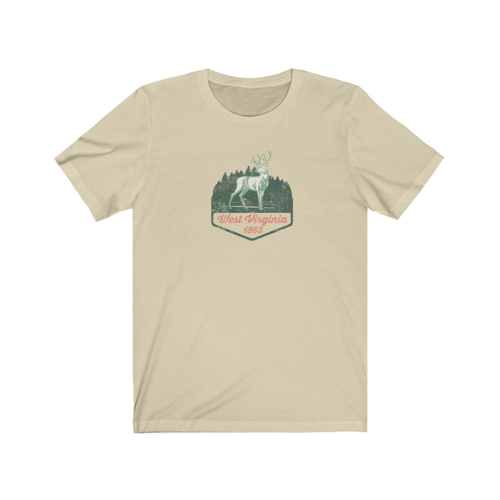 (Soft Unisex Bella)  West Virginia 1863 Buck | Iconic State Tee T-Shirt
