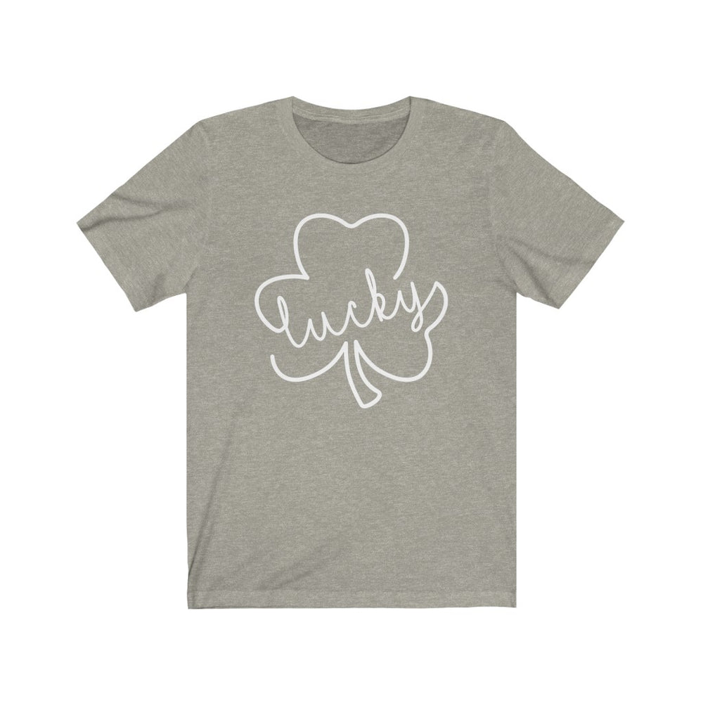 (Soft Unisex Bella) Lucky Clover (white)  St. Patrick's Day