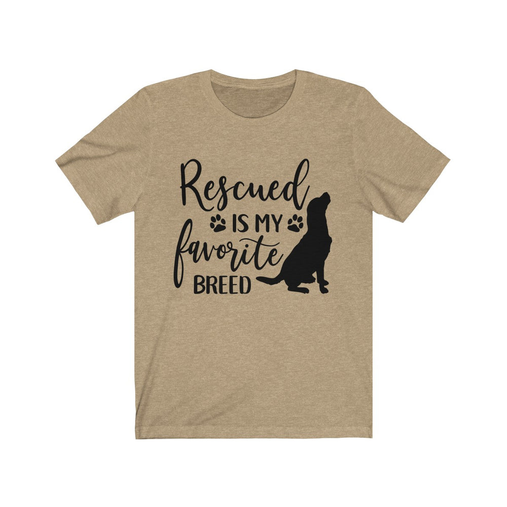 (Soft Unisex Bella) Rescued is my Favorite Breed (black)