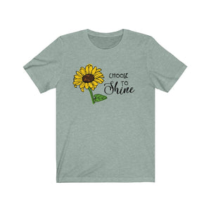(Soft Unisex Bella) Choose to Shine Sunflower