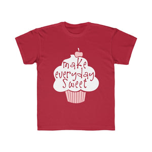(Kids Regular Fit Tee) Make Every Day Sweet Cupcake