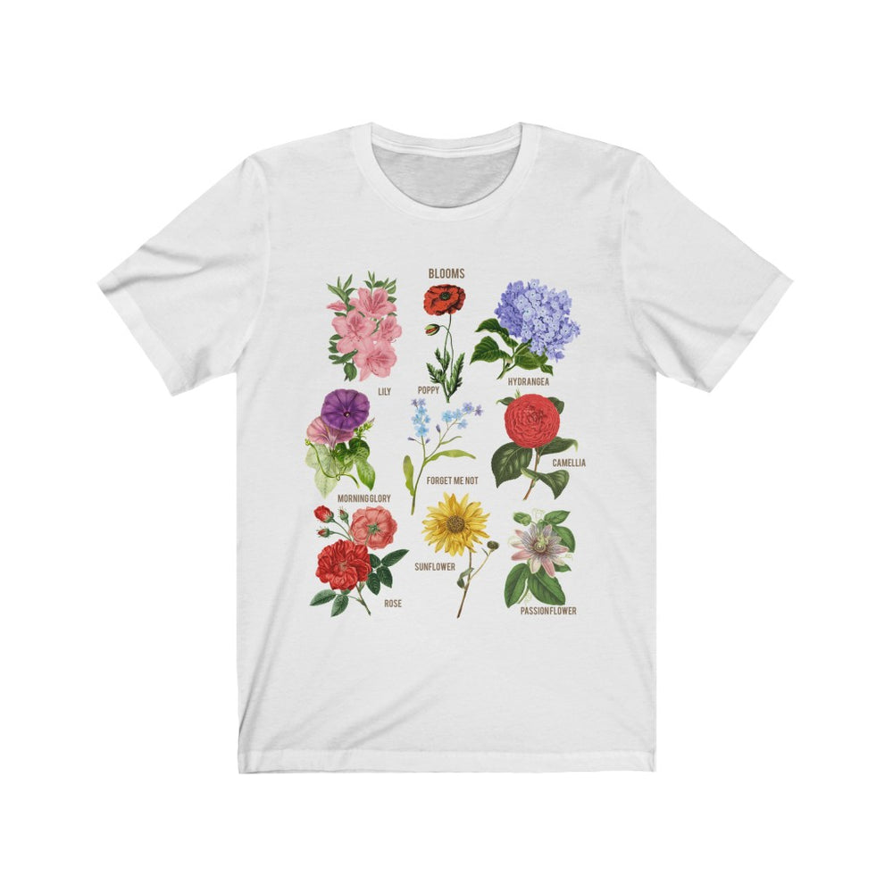 (Soft Unisex Bella) Blooms Botanical Flower Chart Floral