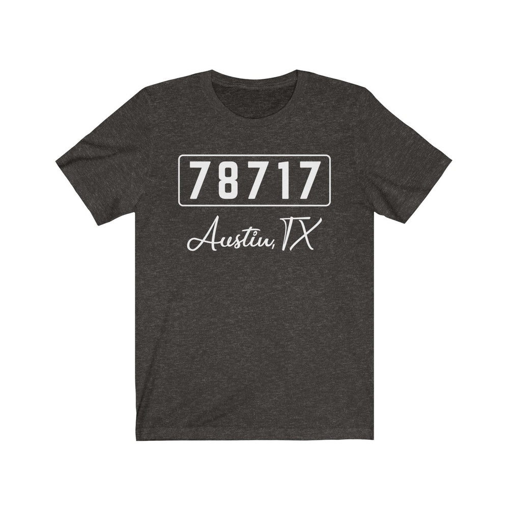 (Soft Unisex Bella) Zipcode City Name - Austin, TX 78717