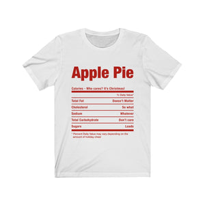 (Soft Unisex Bella) Funny Christmas Nutritionals - Apple Pie (red)