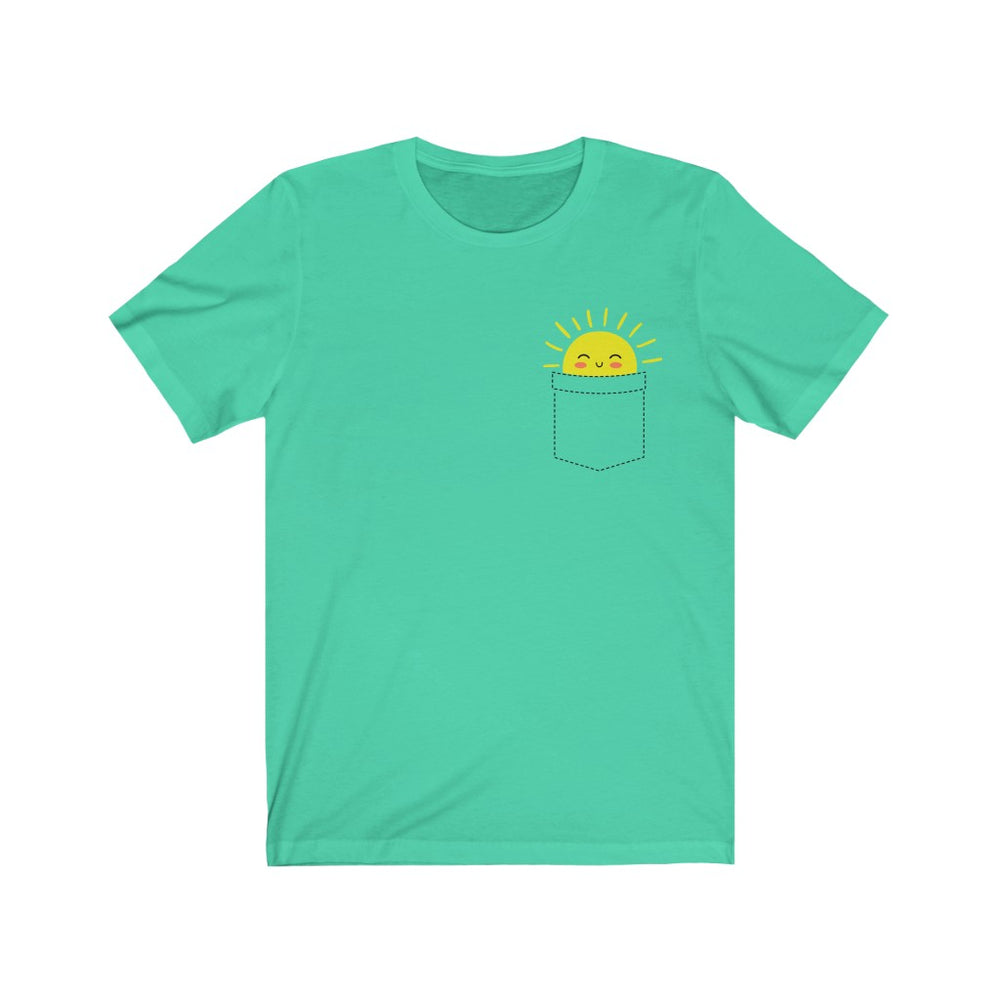 (Soft Unisex Bella) Fake Pocket Sunshine Smile