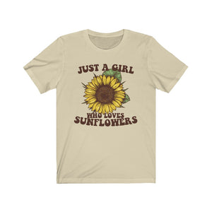 (Soft Unisex Bella) Just a Girl Who Loves Sunflowers