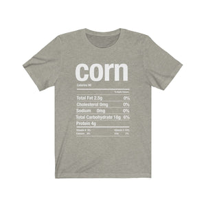 (Soft Unisex Bella) Thanksgiving Nutrition Matching Ice Breaker Tees - Corn (white font)