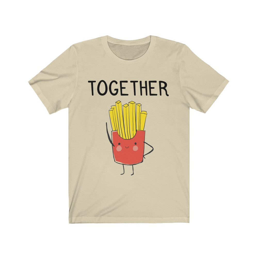 (Soft Unisex Bella) We Belong Together Matching Sets - French Fries