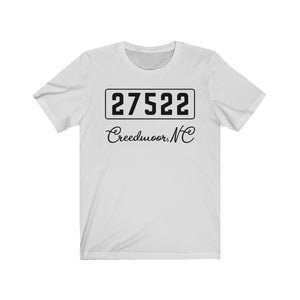 (Soft Unisex Bella) Zipcode City Name - Creedmoor, NC 27522