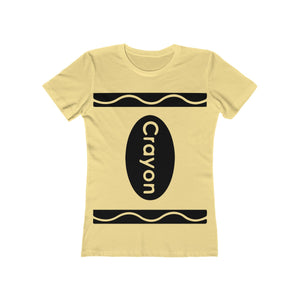 (Women's Boyfriend Tee NextLevel) Crayon Non Costume Teachers Artists-T-Shirt-Ellas-Canvas-DesIndie