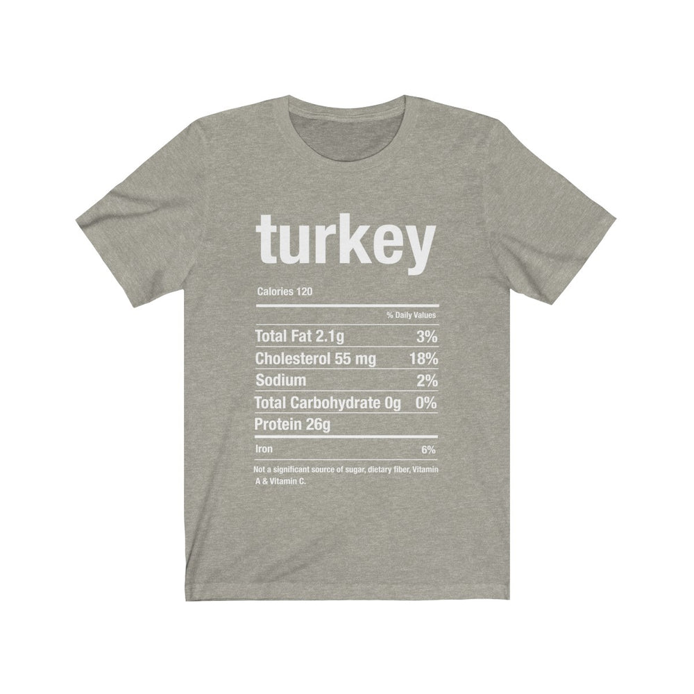 (Soft Unisex Bella) Thanksgiving Nutrition Matching Ice Breaker Tees - Turkey