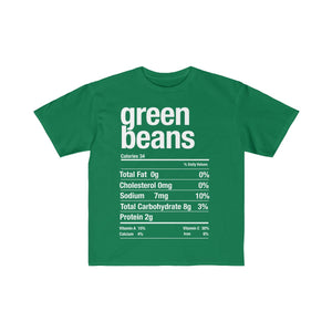 (Kids Retail Fit Tee) - Nutritional Facts Thanksgiving - Green Beans