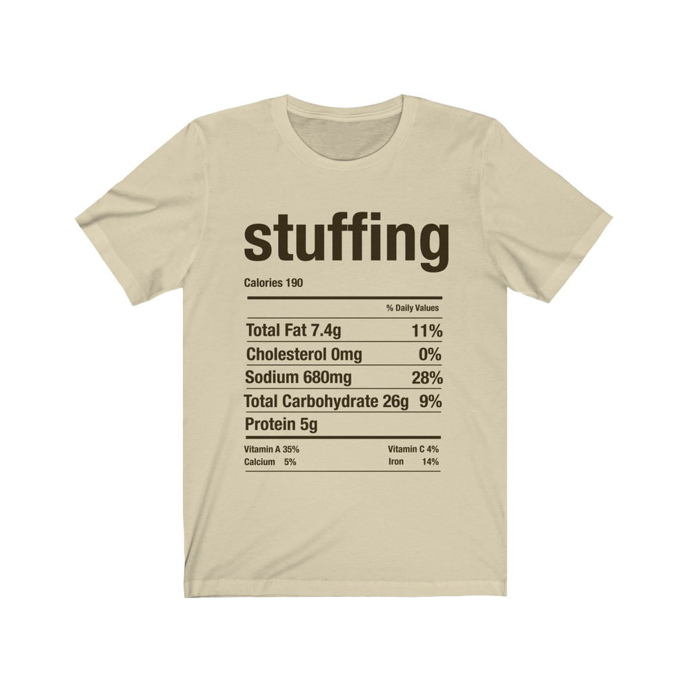 (Soft Unisex Bella) Thanksgiving Nutrition Matching Ice Breaker Tees - Stuffing