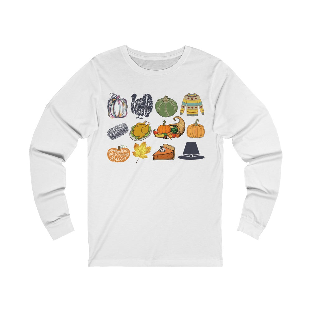 (Soft Unisex Bella Jersey Long Sleeve) It's Little Things - Thanksgiving