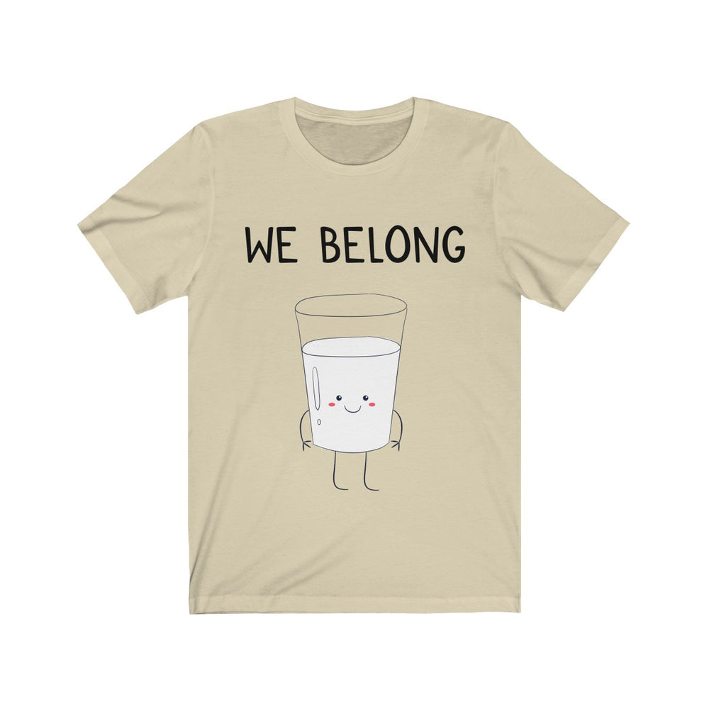 (Soft Unisex Bella) We Belong Together Matching Sets - Milk Glass