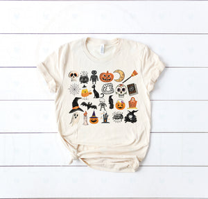 (Soft Unisex Bella) It's the Little Things Halloween Skeletons Ghosts Witches Goblins Pumpkins Candy
