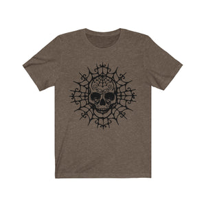 (Soft Unisex Bella) Spider Skull (black)