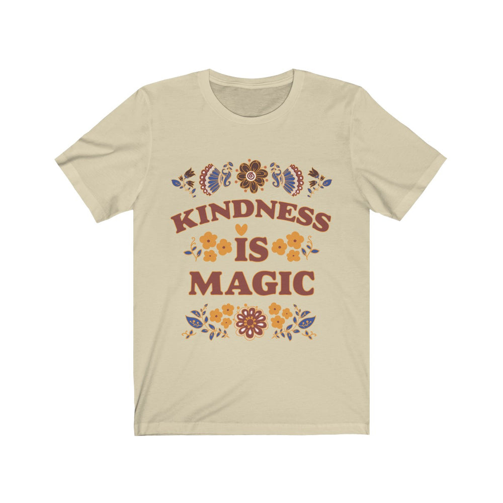 (Soft Unisex Bella) Kindness is Magic-T-Shirt-Ellas-Canvas-DesIndie
