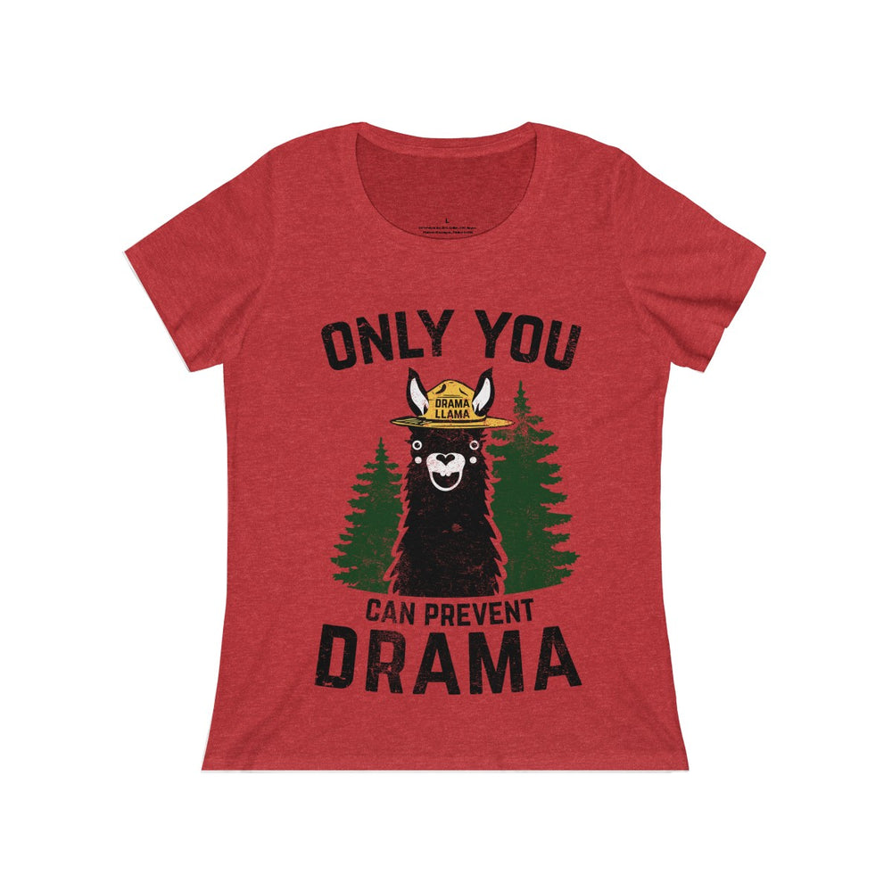 Women's Relaxed Jersey Short Sleeve Scoop Neck Tee - Llama Drama