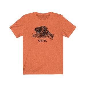 (Soft Unisex Bella) Funny Animals - Dam. Beaver-T-Shirt-Ellas-Canvas-DesIndie