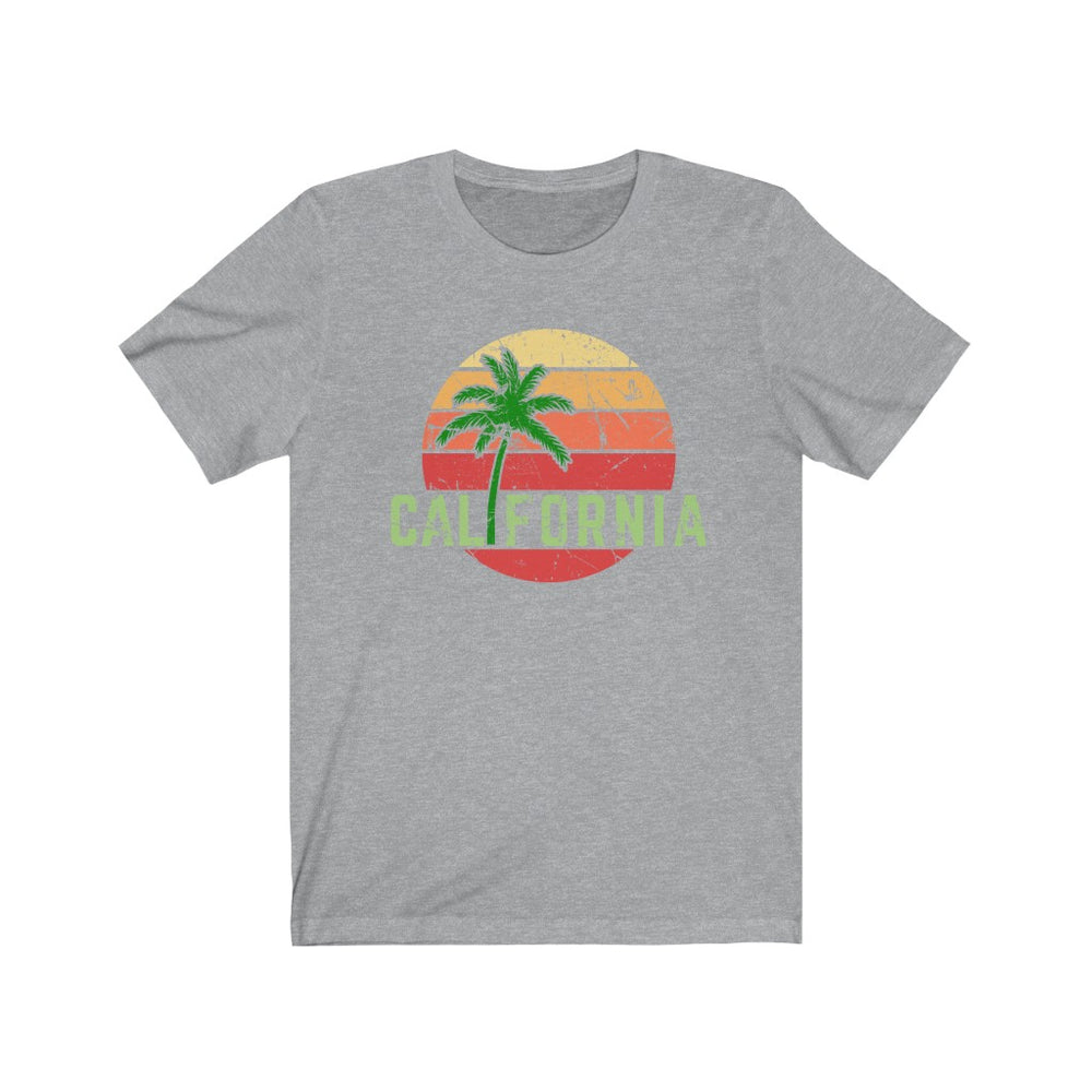 (Soft Unisex Bella) California Ocean Sunset Palm | Iconic State Tee T-Shirt