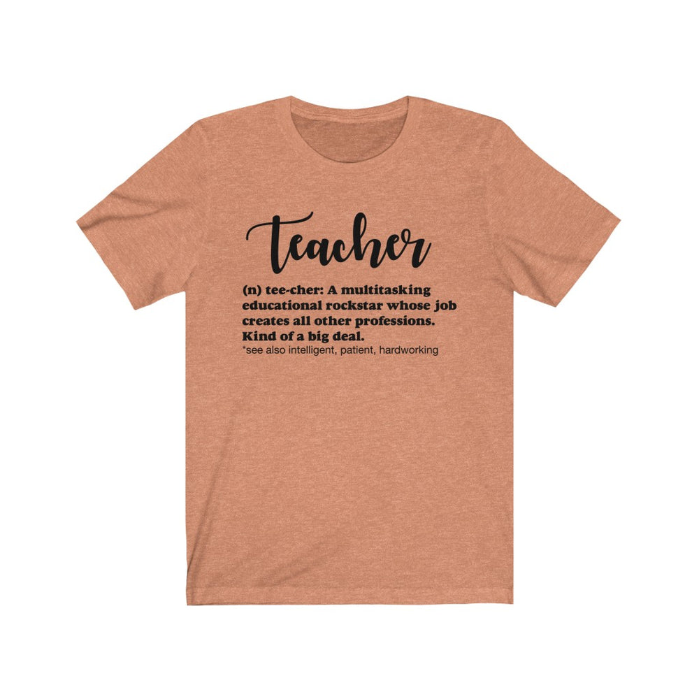 (Soft Unisex Bella) Teacher Definition (black)