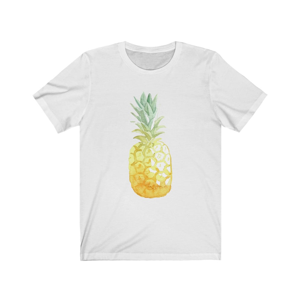 (Soft Unisex Bella) Watercolor Pineapple