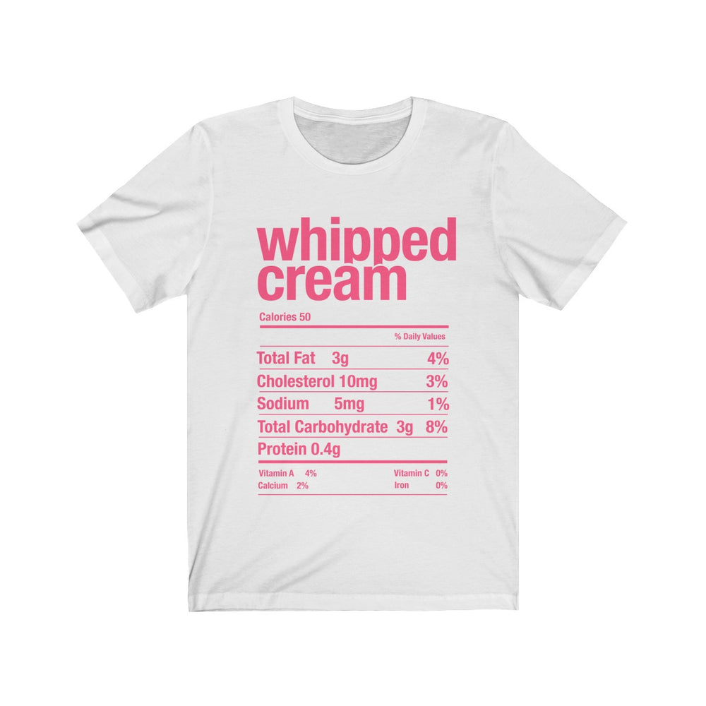 (Soft Unisex Bella) Thanksgiving Nutrition Matching Ice Breaker Tees - Whipped Cream
