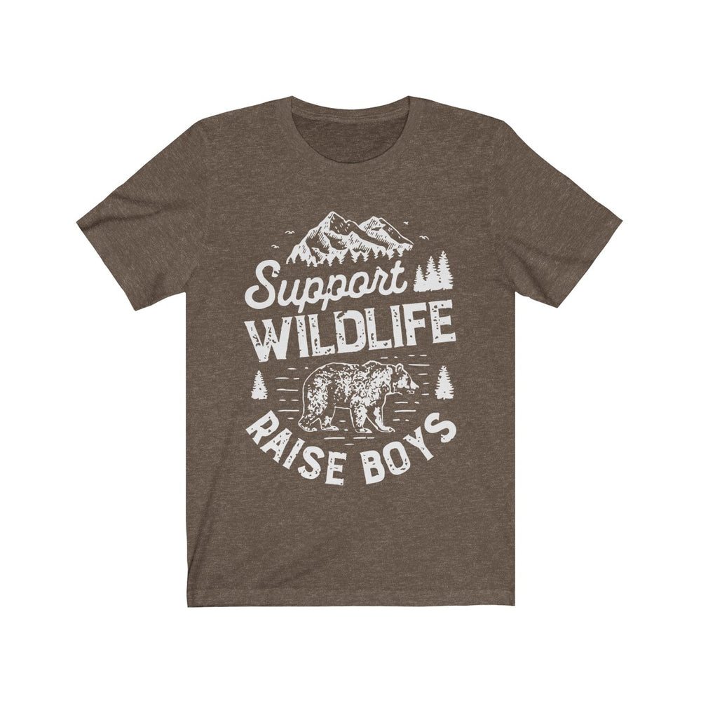 (Soft Unisex Bella) Support Wildlife Raise Boys Bear (white)