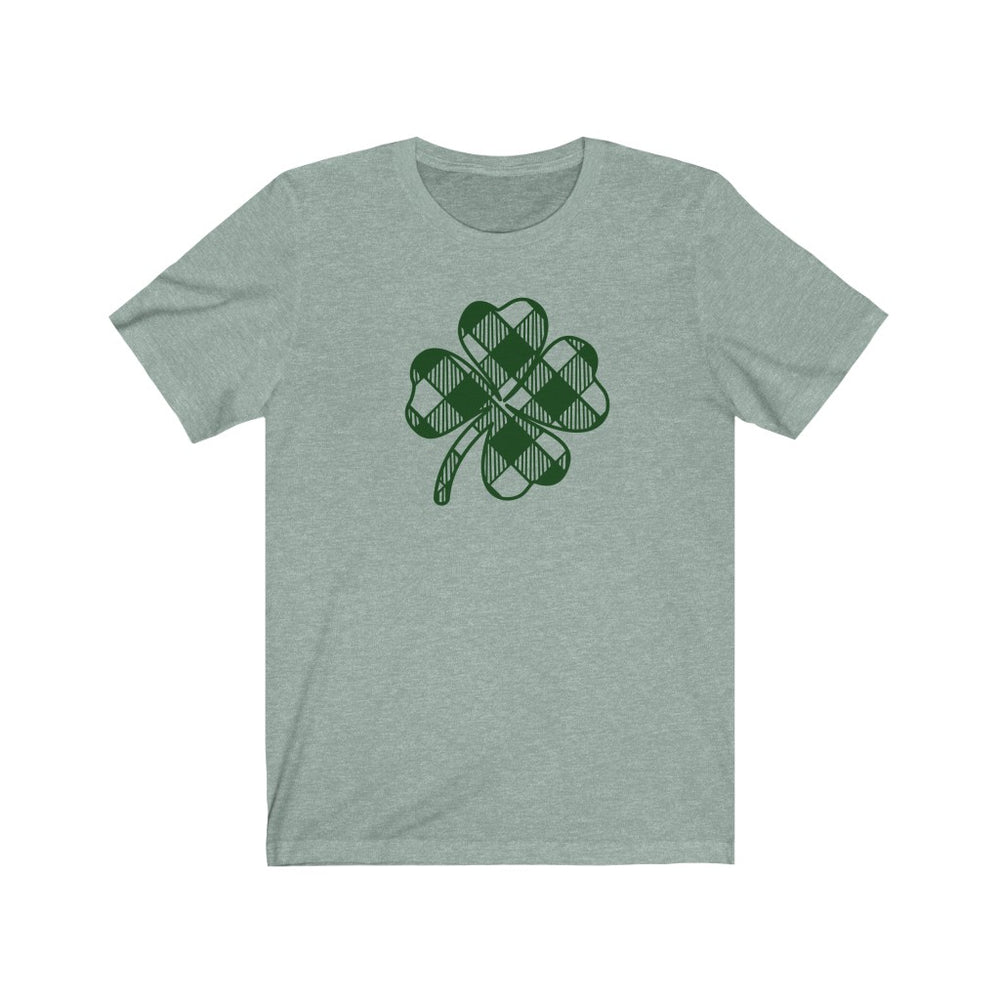 (Soft Unisex Bella) Plaid Clover St. Patrick's Day