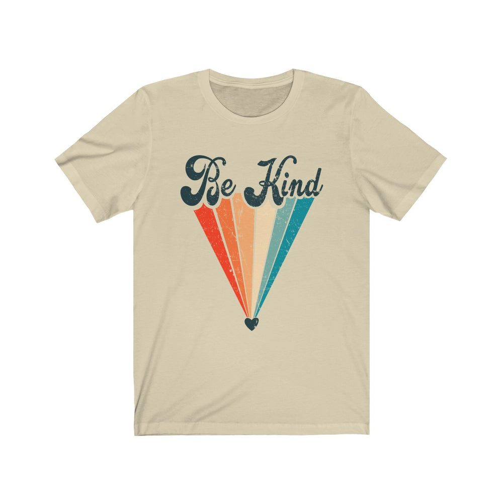 (Soft Unisex Bella) Be Kind Retro Heart Rainbow