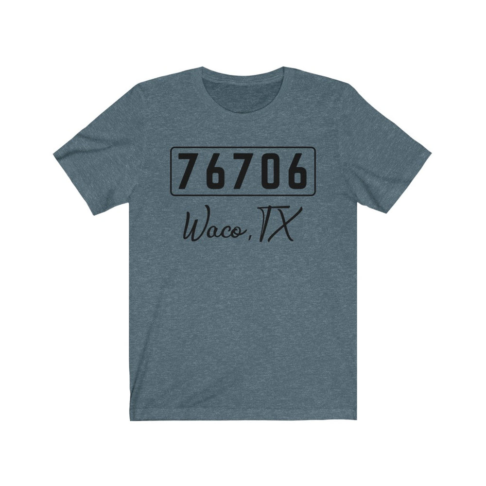 (Soft Unisex Bella) Zipcode City Name - Waco, TX 76706
