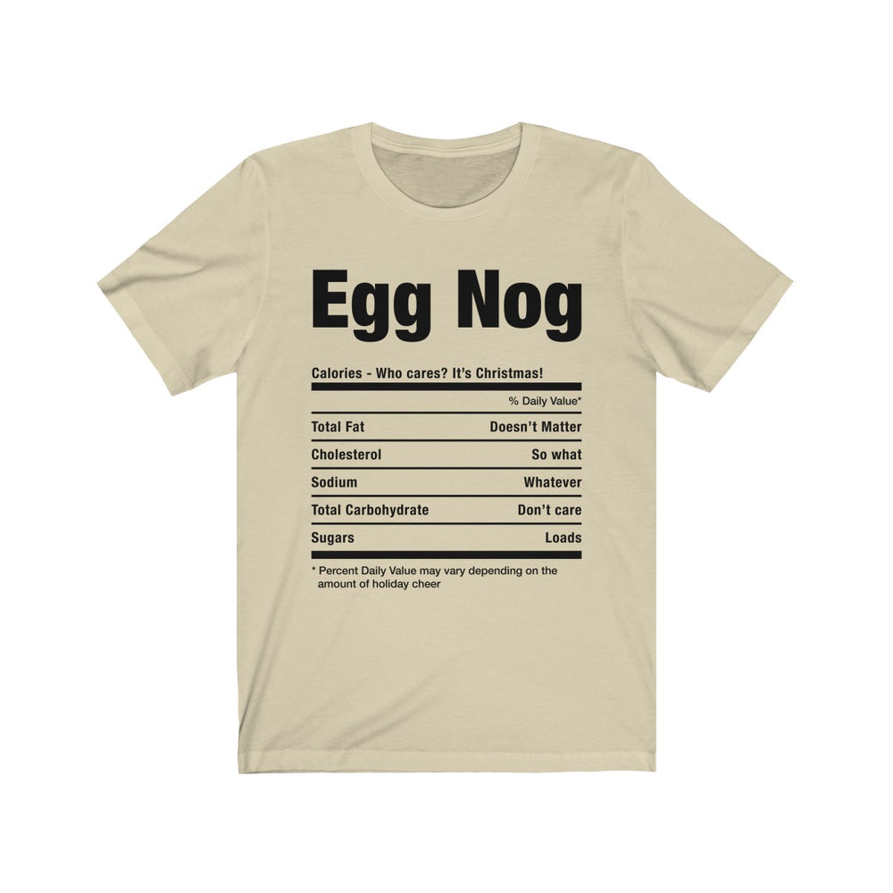 (Soft Unisex Bella) Funny Christmas Nutritionals - Egg Nog