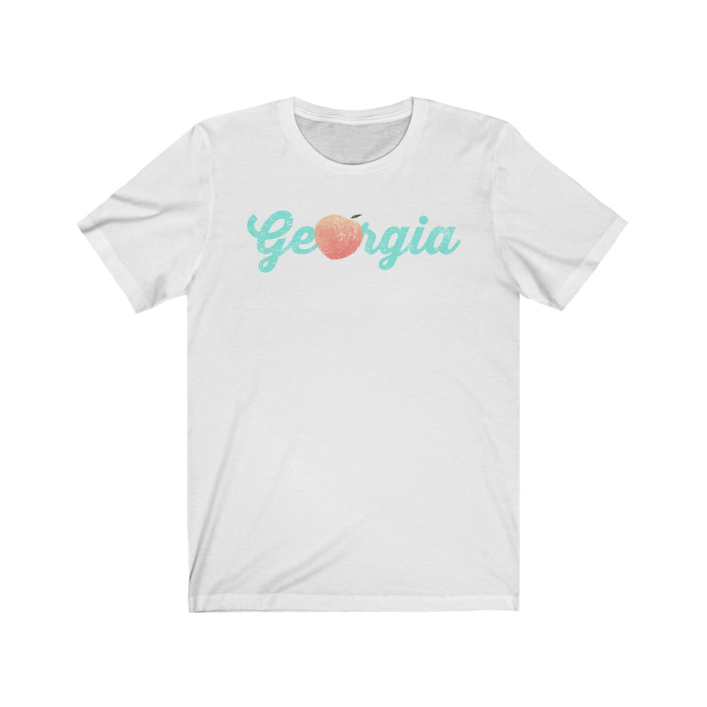 (Soft Unisex Bella) Georgia Peach (light) | Iconic State Tee T-Shirt