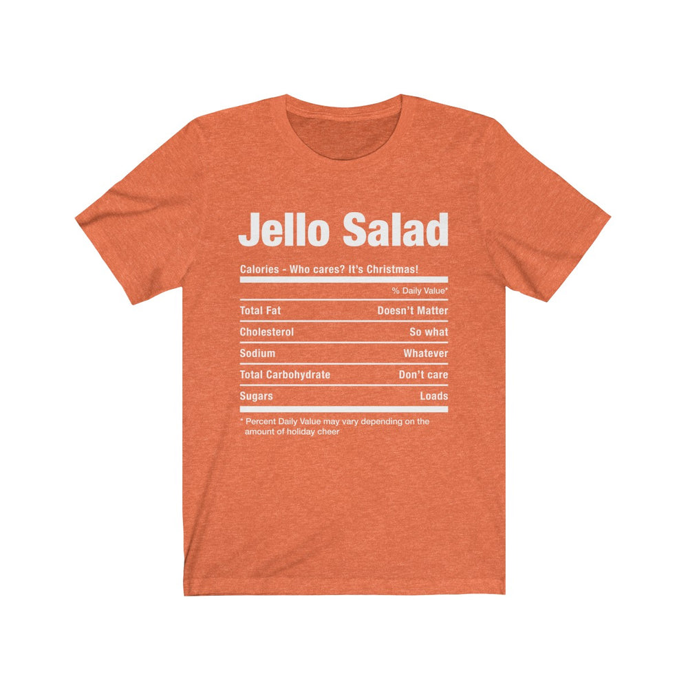 (Soft Unisex Bella) Funny Christmas Nutritionals - JELLO Salad