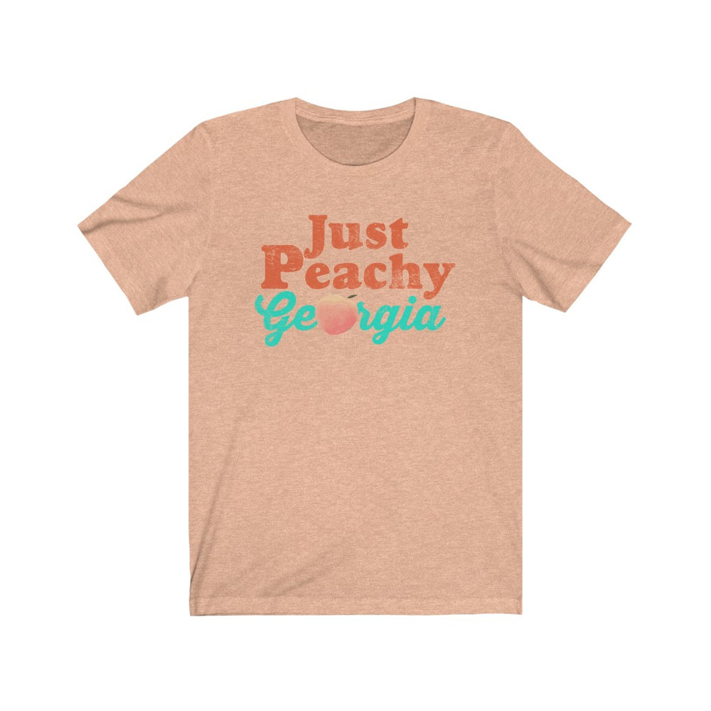 (Soft Unisex Bella) Georgia Just Peachy (orange darker) | Iconic State Tee T-Shirt