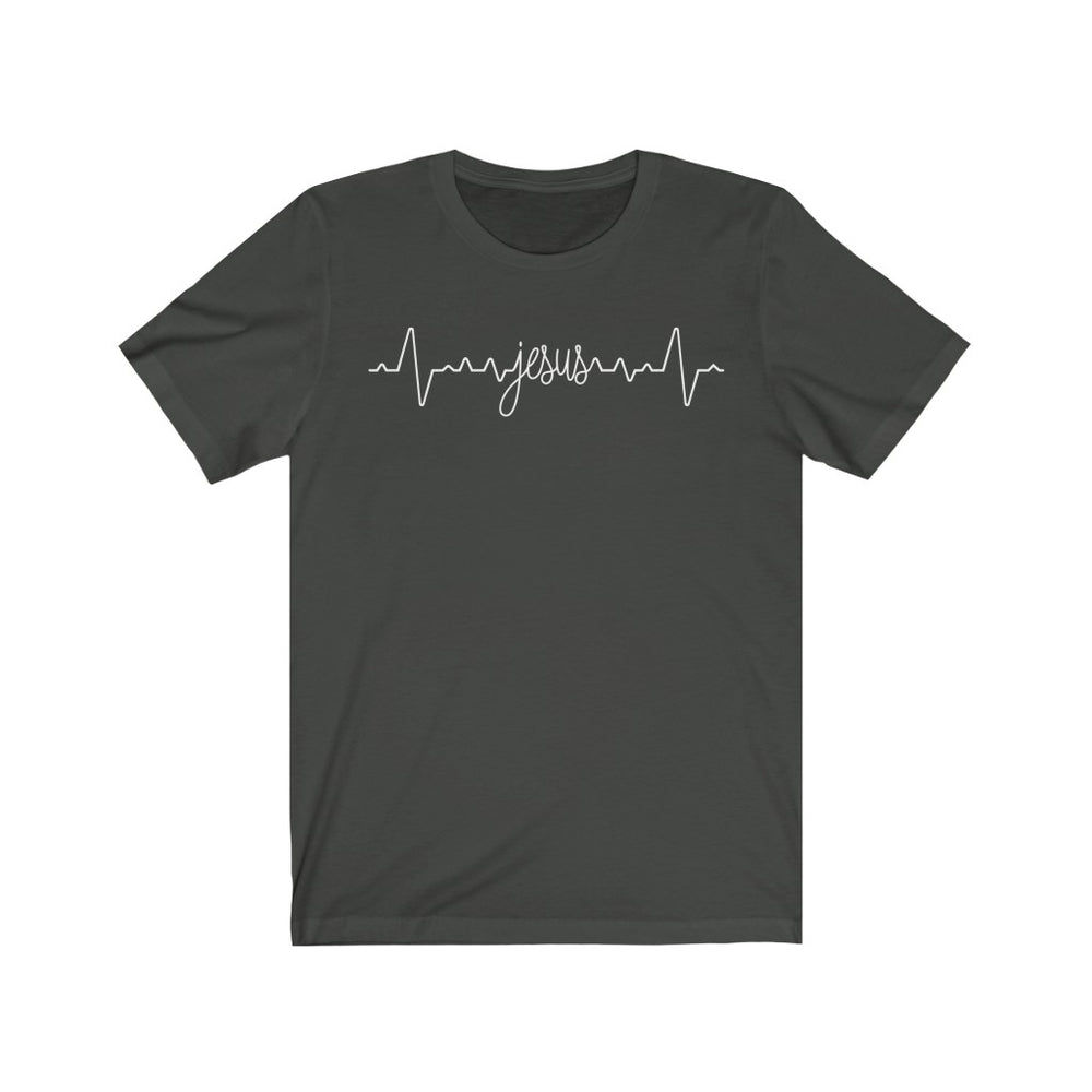 (Soft Unisex Bella) Heartbeat Pulse - Jesus