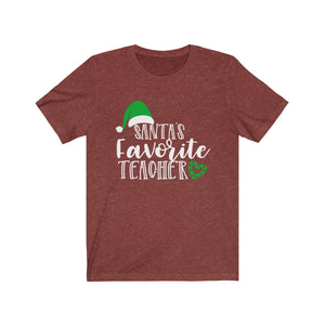 (Soft Unisex Bella) Santa's Favorite Teacher