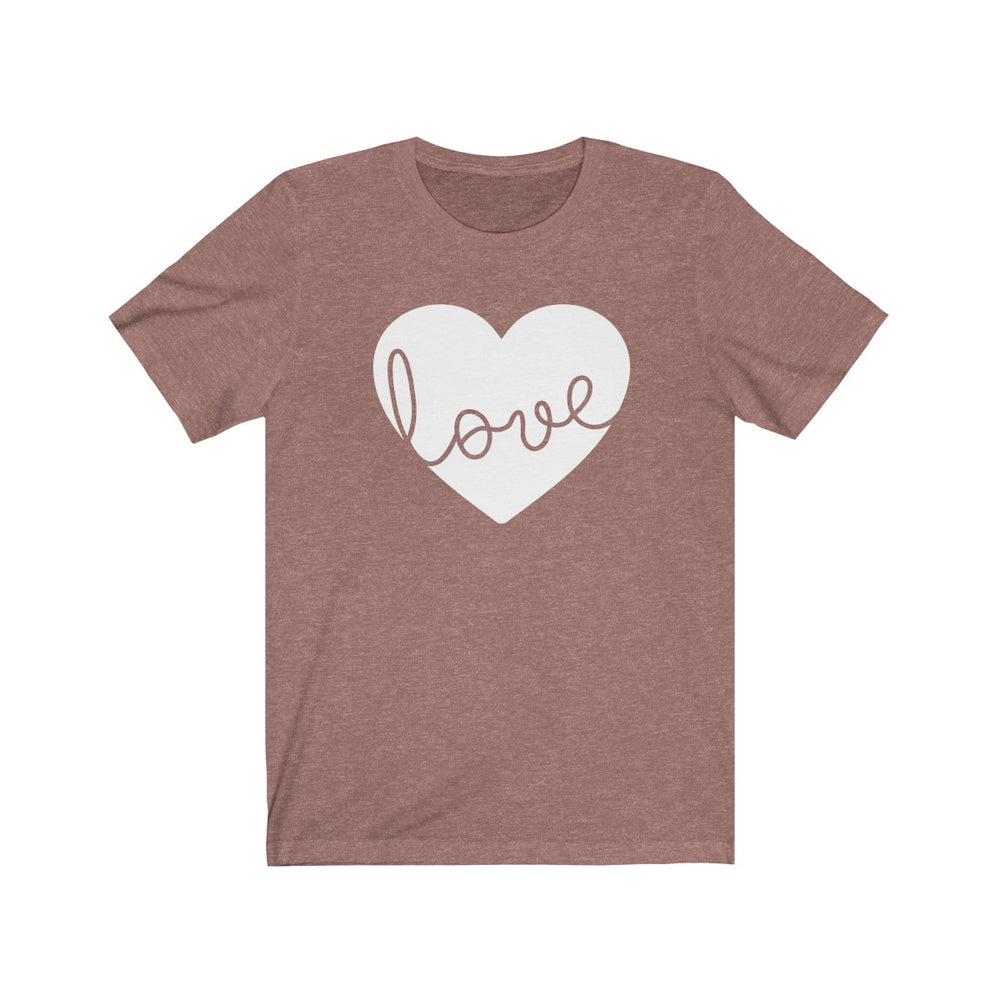 (Soft Unisex Bella) Love Heart (white)