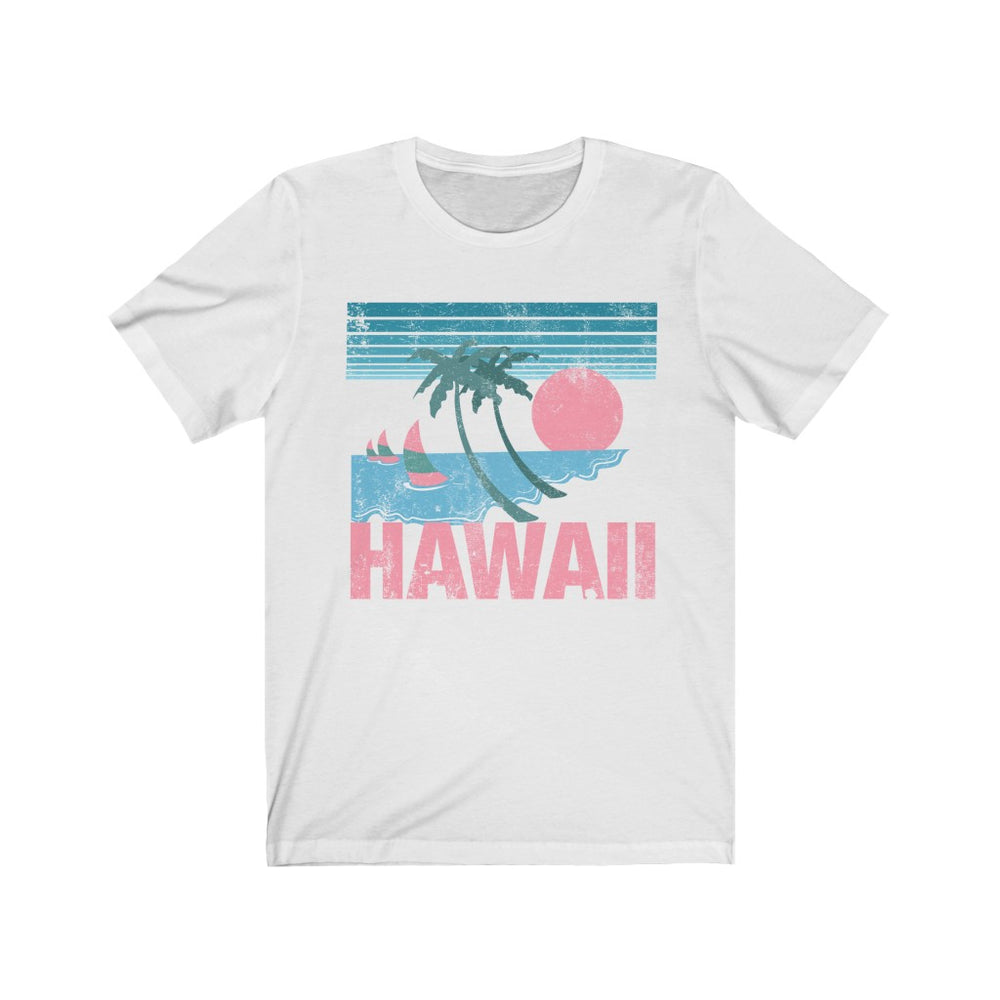 (Soft Unisex Bella) Hawaii Pink Sunset | Iconic State Tee T-Shirt