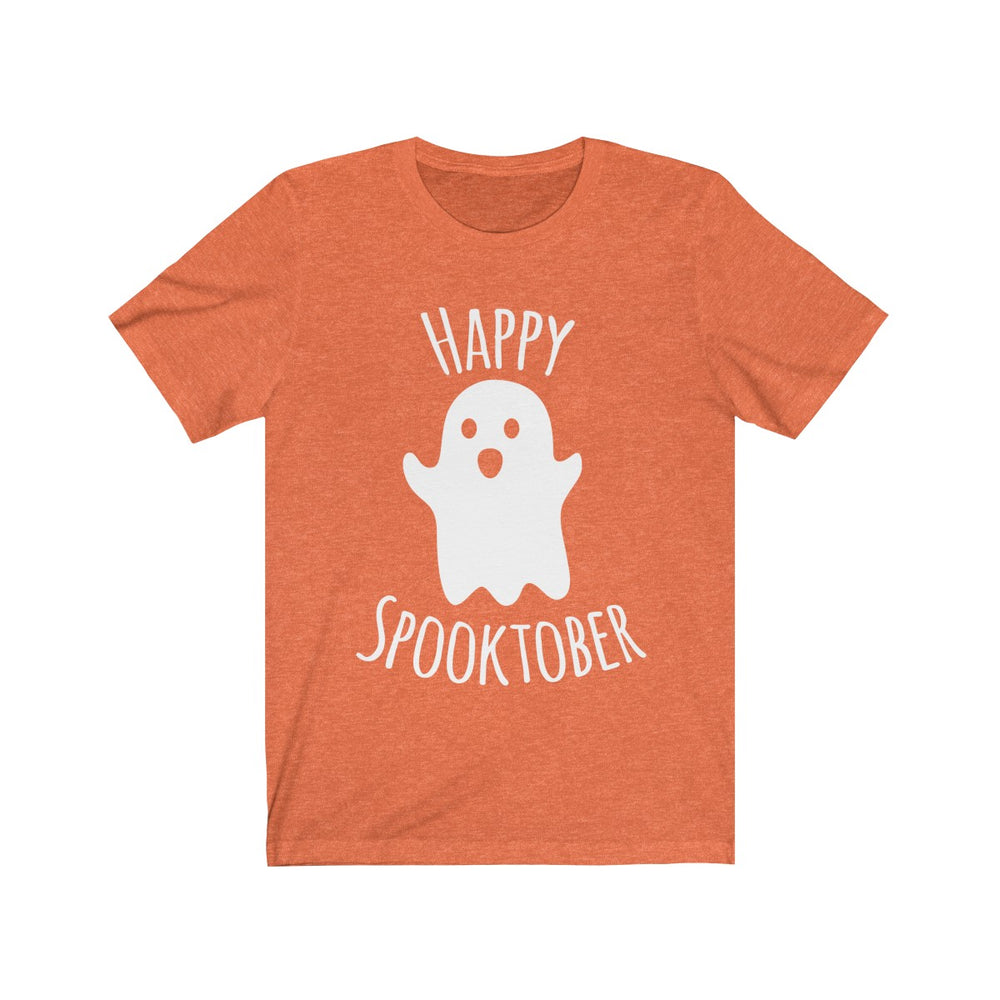 (Soft Unisex Bella) Happy Spooktober Halloween-T-Shirt-Ellas-Canvas-DesIndie