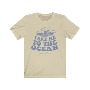 (Soft Unisex Bella) Take me to the Ocean Rhode Island | Iconic State Tee T-Shirt