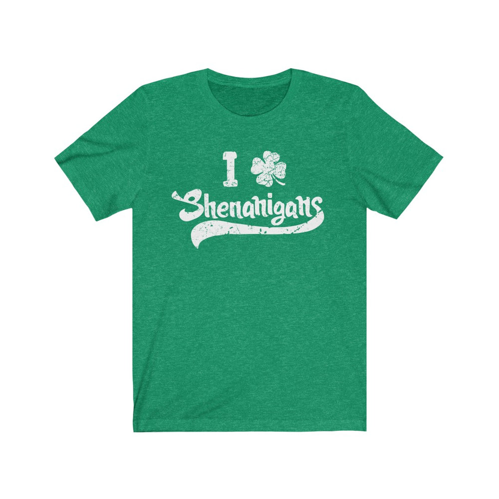 (Soft Unisex Bella - Other Colors) I Clover Shenanigans (white)  St. Patrick's Day