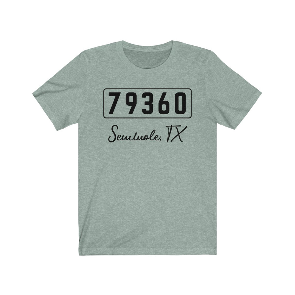 (Soft Unisex Bella) Zipcode City Name - Seminole, TX 79360