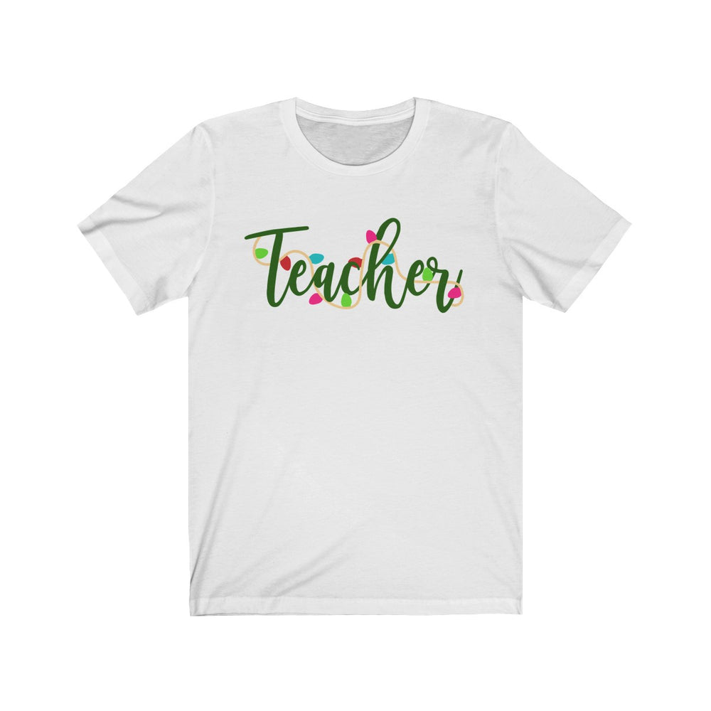 (Soft Unisex Bella) Teacher Christmas Lights