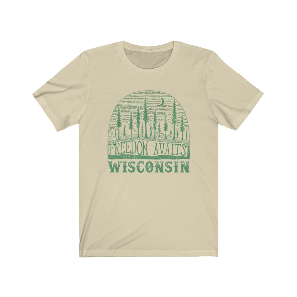 (Soft Unisex Bella) Wisconsin Freedom Awaits | Iconic State Tee T-Shirt