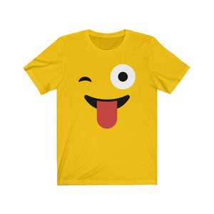 (Soft Unisex Bella) Emoji Funny Face Tongue-T-Shirt-Ellas-Canvas-DesIndie
