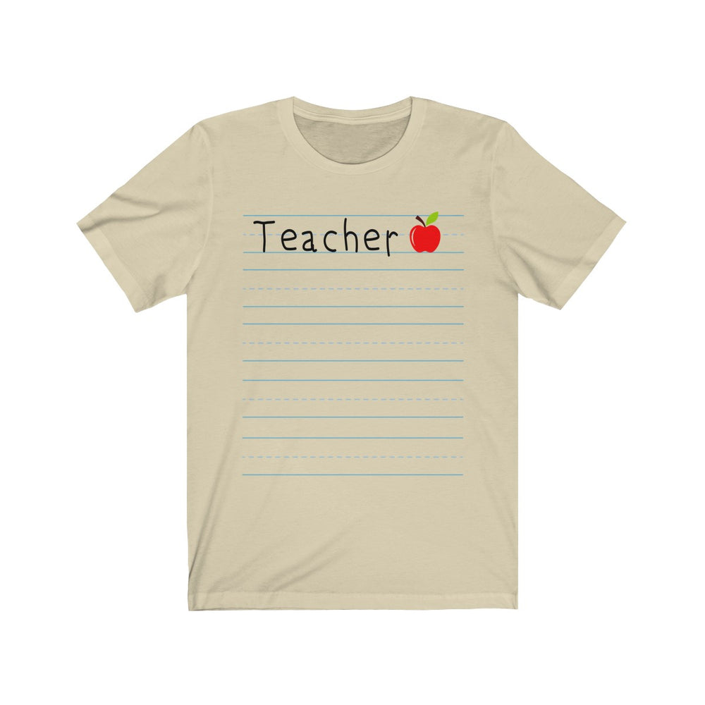 (Soft Unisex Bella) Teacher Lined Paper