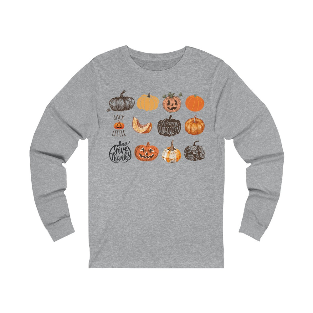 (Soft Unisex Bella Jersey Long Sleeve) It's Little Things - Pumpkin Harvest