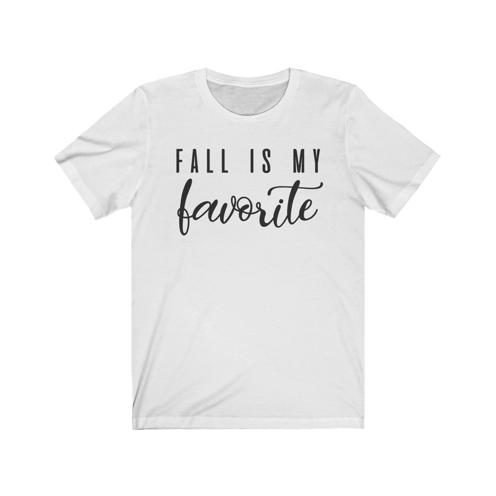 (Soft Unisex Bella) Fall is My Favorite (black)-T-Shirt-Ellas-Canvas-DesIndie